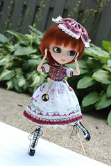 IMG_0523 (Dollymama2015) Tags: pullipmerl doll groovedoll redhead ginger lolitastyle dolldress handmadedollclothes sugarlattice gnome garden outdoors