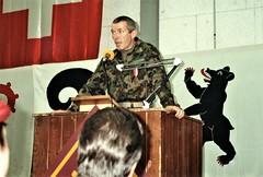 Colonel Buergi replies (photo by Jean Upton)