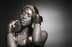 Candi Symone Blackbird 33 (TheElevatedAfrican) Tags: dance black african afro natural gold movement beauty art bird dramatic emotional ancestor africa model detroit shapes lines muscles