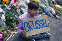The diaspora is his home. Brussels attacks memorial, April 2016. (joelschalit) Tags: brussels brusselsattacks bruxelles isis waronterror syriancivilwar iraqwar syria iraq islam multiculturalism tolerance suicidebombings pentax pentaxk01 belgium arab northafrica