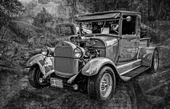 1929 Ford (Anvilcloud) Tags: carletonplace cpcarshow wheelsonthemississippi bw ontario canada ca