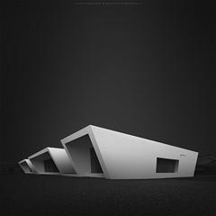 T r i p l e t (*Jin Mikami*) Tags: bw architecture japan black white square art monochrome surreal bnw minimalism photoshopped pentax fineart