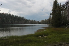 The afternoon storm showed up at Lower Twin Lake (rozoneill) Tags: lassen volcanic national park wilderness redding chico california hiking pacific crest trail backpacking cascades volcano peak
