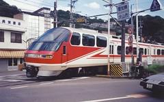 Super on Meittetsu Line  1993 (D70) Tags: super meittetsu line inuyama aug 10th 1993 locomotive railway train japan olympus trip 35 scanned canoscan 8600f print film