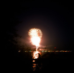 7.3.17 Fireworks Loon Lake Rollei E6 E09 (Jcicely) Tags: 2017 e6 fireworks fourthofjuly july loonlake loonlakewithmarvin reflection rollei sky water