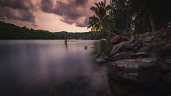 (Flutechill) Tags: nature water river outdoors tree lake reflection people landscape relaxation tranquilscene summer sunset scenics vacations forest sky men beautyinnature lifestyles kohchang ko good longexposure