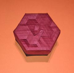 32-Rhombus twist flower back (mganans) Tags: origami tessellation box