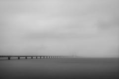 Porten till Europa (MagnusBengtsson) Tags: malmö sverige skåne landskap hav bro öresundsbron höst mulet limhamn fs170910 fotosondag port blackandwhite svartvitt
