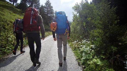 Op weg naar de eerste hut