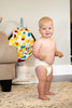 Look Ma, Two Hands! (donnierayjones) Tags: baby boy smile happy naked diaper eating snack