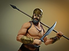 """Movies & Toys – Max Factory – Figma – Leonidas """"300"""" – This Is Where We Fight! (My Toy Museum) Tags: movie toys dvd king leonidas 300 sparta good smile max factory figma action figure"""