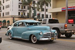 Ventura Nationals Cruise Night 2017 (USautos98) Tags: 1948 chevrolet chevy fleetline aerosedan hotrod streetrod kustom