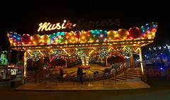 Musik Express (HelloLiviaK) Tags: fair champlain valley cvf carnival champlainvalleyfair vermont essex essexjunction summer night nightphoto nightphotography lights ferris ferriswheel ride fairride carousel swings vt 802 explore exploring newengland travel flying urban burlington fun a5000 sony sonya5000 adventure america mirrorless btv