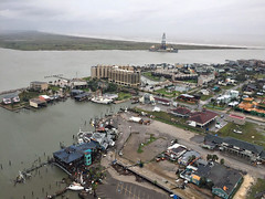 K19D55 (The_Rudin_Group) Tags: hurricane harvey texas gulf mexico damage destruction disaster port aransas search sar aerial view looking down category 4 extreme weather climate change global warming natural tropical storm typhoon cyclone science technology horizontal coast guard