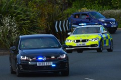 Traffic Convoy (S11 AUN) Tags: northumbria police volkswagen vw golf gti bmw 330d 3series xdrive saloon anpr traffic car roads policing unit rpu motor patrols 999 emergency vehicle lj16bbe