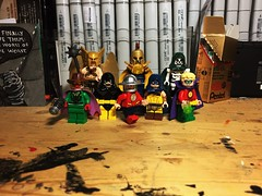 Liberty and Justice for All (LordAllo) Tags: lego justice society america dc sandman hawkman hourman doctor fate flash atom spectre the green lantern jay garrick alan scott
