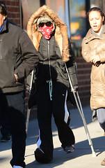 SPL683150_004 (vp100194) Tags: disguise madonna injured injury injuries michaeljackson crutches newyork usa