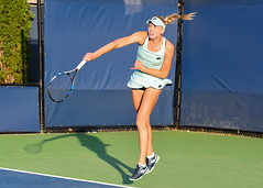 2017 US Open Tennis - Qualifying Rounds -  Naomi Broady (GBR) [18] def. Cagla Buyukakcay (TUR)
