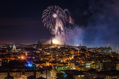 Fireworks marked the end of the 70th Edinburgh Festival (Photography Revamp) Tags: blue nikon d750 edinburgh edinburghcastle nightsky fireworks britain uk unitedkingdom