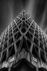 Corners (TS446Photo) Tags: architecture building storm corner london lookup black white noiretblanc rust