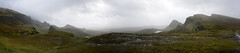 Skye Panorama1 (nic0704) Tags: scotland hiking walking climbing summit highlands outdoor landscape hill mountain foothill peak mountainside cairn munro mountains skye isle island cuilin cuillin blaven blà bheinn red black elgol quiraing trotternish eilean donan castle loch duich
