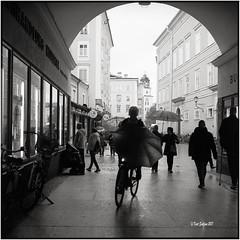 Wie eine Fledermaus_Rolleiflex 2.8F (ksadjina) Tags: 6x6 austria bike carlzeissplanar80mmf128 herbst kodak400tmax nikonsupercoolscan9000ed regen rodinal rolleiflex28f salzburg silverfast analog blackwhite film scan