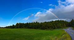 Simply beautiful ... (escapevelocity-ch) Tags: hicham dennaoui escape velocity escapevelocitych nightscape switzerland lausanne vaud rainbow arc en ciel forêt route
