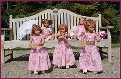 Tanzstunde im Park  ... (Kindergartenkinder) Tags: schlossanholt annemoni milina dolls himstedt annette park kindergartenkinder sommer wasserburg margie isselburg tivi sanrike