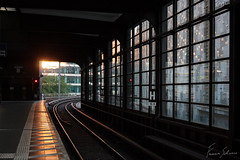 Sunset from the Berlin metro (f.bigslave) Tags: berlin metro urban life elegant work commuting train railway railroad sky sun sunset twilight clouds people street photography city lifestyle canon eos 600d 18 55 efs