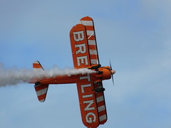 Southport Air Show 2017: Breitling Wingwalker (16/09/2017) 4/7 (David Hennessey) Tags: southport air show 2017 breitling airwalker biplane aircraft stunt display wing walking