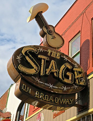 The Stage, Nashville, TN (Robby Virus) Tags: nashville tennessee tn neon sign signage stage broadway honky tonk live music country bar booze alcohol beer guitar hat