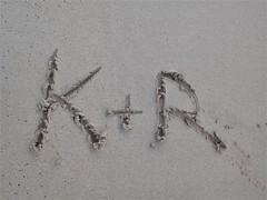 K & R (kenjet) Tags: oahu beach sand sandy island waikiki waikikibeach hawaii typography letter letters k r