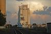 Hays, Kansas Grain Elevators. (Wheatking2011) Tags: hays kansas grain elevators thunderstorm east produced tornado