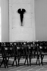 Chairs and Cross (Von Noorden) Tags: stpetri lübeck germany chair chairs stuhl stühle kreuz christlich christian god jesus church kirche altar cruz religion bw blackandwhite black white noir blanc schwarweiss weis schwarzundweiss schwarzweis monotone monocrome noiretblanc cathedral house love dark dom petrikirche patrick patrickschurch art interior chor kruzifix crucifix shade shadows schatten glanz shine reflections contrast kontraste pattern order calm spirit spiritual ghost ghosts mary gothic ng ngc