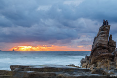 Azkorri-024-2 (fadercini) Tags: azkorri mar atardecer nubes playa puestadesol rocas sol