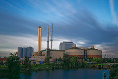 Power Plant  [Explored 2017-08-11] (T.Seifer) Tags: architecture building clouds fx hamburg haida longexposure outdoors photography power plant travel europe himmel sky