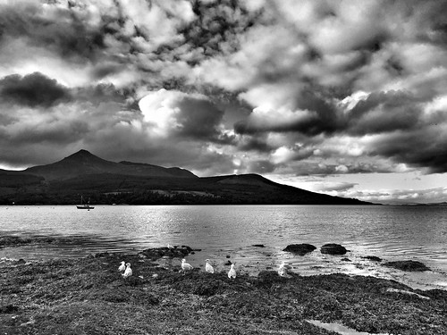 A View of Goatfell from Brodick Bay