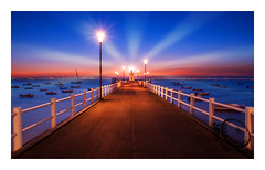 Lighthouse (24timelapsephotography) Tags: light lighthouse sunset rays nikon sigma1750 sigma ngc travel water sea ocean seascape river rio tejo portugal summer clouds orange blue manfrotto nisi ndfilter