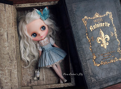Not a book (pure_embers) Tags: pure embers middie blythe doll dolls photography uk laura england girl pureembers iris white alpaca hair lily emberslily book hiding linea