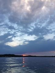 Muskegon Lake Sunset (designsbykari) Tags: muskegon michigan lakemichigan greatlakes sunset boat water lighthouse clouds peremarquette muskegonlake usa unitedstatesofamerica summer pier