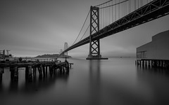 Bay Bridge at Night - 10-Stop ND Filter (Jemlnlx) Tags: canon eos 5d mark iv 5div 5d4 ef 1635mm f4 l is usm san francisco bay bridge rincon park point bw 10stop 30 graduated neutral density filter tiffen gnd 06 2stop long exposure landscape scenic night evening