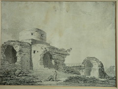 SUVÉE Joseph Benoît - Les Ruines d'un Monument carré, d'une Abside et d'un Acqueduc (drawing, dessin, disegno-Louvre INV32985) - 0 (L'art au présent) Tags: art painter peintre details détail détails detalles drawings dessins dessins18e 18thcenturydrawings dessinsfrançais frenchdrawings peintresfrançais frenchpainters museum paris france ruines ruins stone stones pierre pierres pont bridge acqueduc nature apse fortification édifice building forteresse stronghold fortress croquis étude study sketch sketches antique antiquity ancient antiquités sacred holy blessed figure personnes people femme femmes woman man men