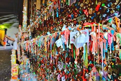 The Great Gum Wall  [Explored] (otterdrivernw) Tags: streetphotos streetphotography allies alleyways gumalley washingtonstate washington seattle gumwall wall gum