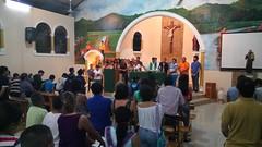 Bendicion de las cruces y envio de los misioneros para la semana de mision por Playa Grande