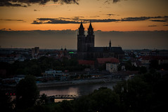 the evening (diwan) Tags: germany deutschland sachsenanhalt saxonyanhalt magdeburg stadt city place rotehorn architecture albinmüllerturm turm tower aussichtsturm observationtower cathedral dom gotik gothic river elbe water wasser abends evening google nikcollection plugins viveza2 lightroom hdr highdynamicrange threesingleshots fotogruppe fotogruppemagdeburg canonef70200mmf28lisusm canoneos5dmarkiv canon eos 2017 geotagged geo:lon=11640754 geo:lat=52117776
