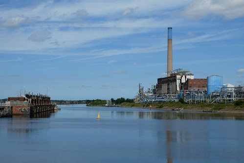 Sluice Gates On Left Ineos Chlor Factory On Right (ex ICI)