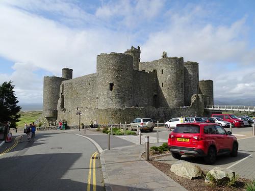 Harlech Castle and its car-park