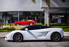 Beautiful couple (Natty France @nfsphoto) Tags: petrolheadcarmeeting canon canon6d 6d hoyafilter lamborghini gallardo bicolore lp5604 envemo super90 cabriolet