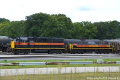 IAIS 721 EMD GP38-2 (Trucks, Buses, & Trains by granitefan713) Tags: iais iowainterstate railroad railfan silvis mixedfreight train locomotive emd emdgp382 gp382 slug yard yardpower lashup nikon nikond3100 d3100