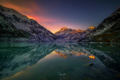Hooker Valley lake, Mount Cook, New Zealand. (sibijohn photography) Tags: mtcook hookervalley hookerlake newzealand auckland southisland sibijohn